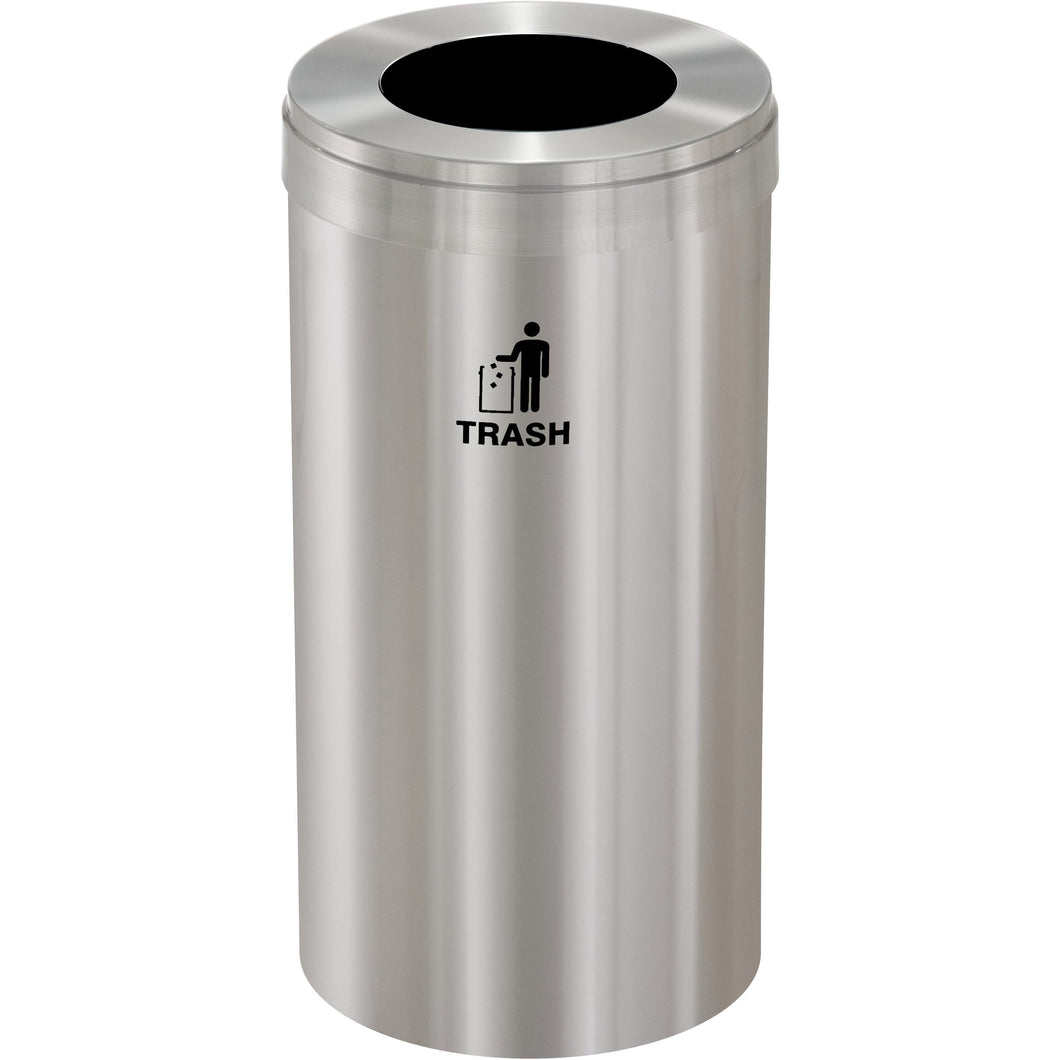Glaro Single Purpose Round Hole 16 Gallon Trash Can - W-1532SA-SA - Trash Cans Depot