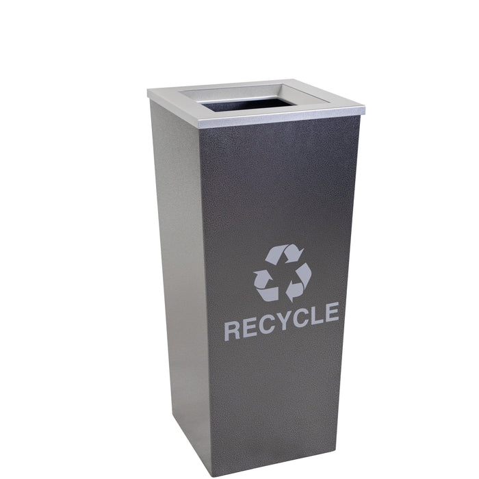Ex-Cell Kaiser Metro Collection 18 Gallon Single Stream Steel Recycling Receptacle - RC-MTR-1 HCCL - Trash Cans Depot