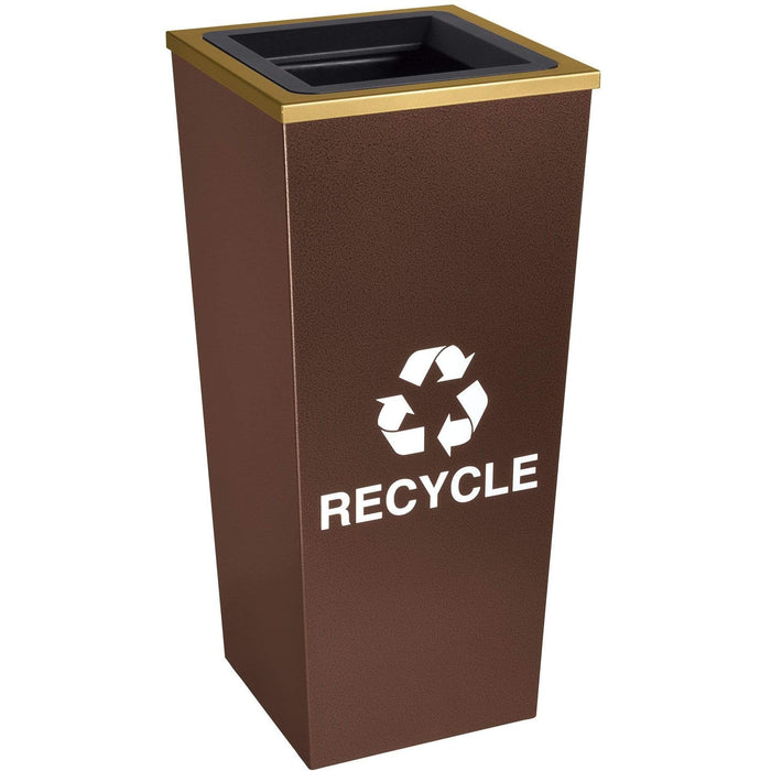Ex-Cell Kaiser Metro Collection 18 Gallon Single Stream Steel Recycling Receptacle - RC-MTR-1 HCPR - Trash Cans Depot