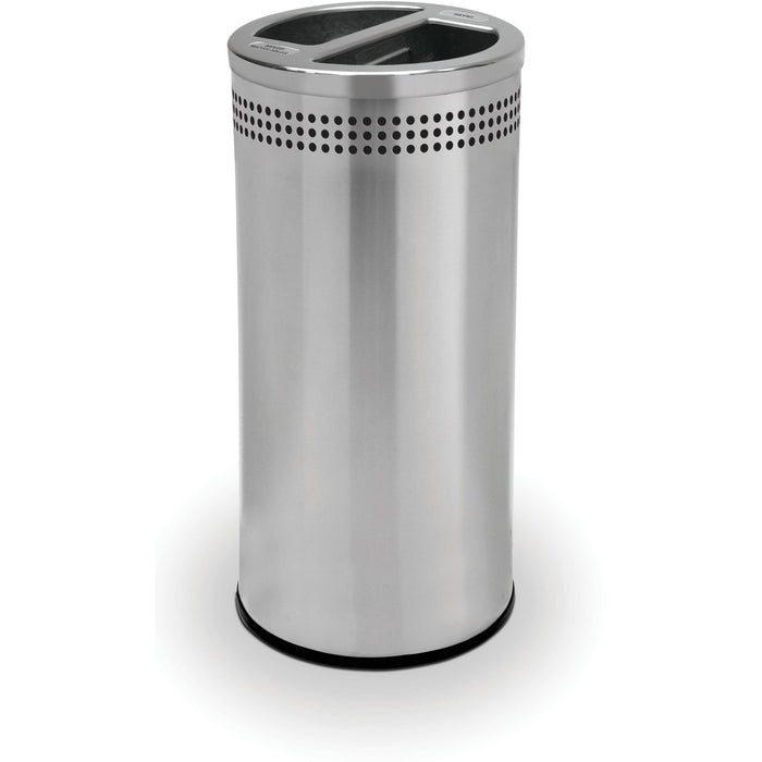 Commercial Zone Precision 20 Gallon Stainless Steel Open-Top SS Recycler - 745829 - Trash Cans Depot