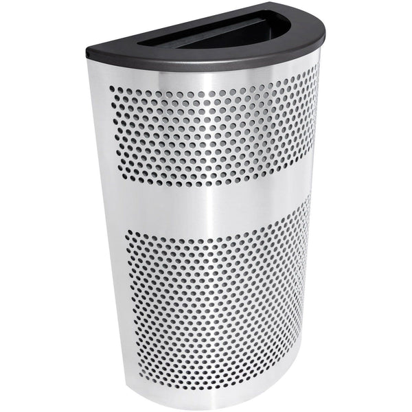 Ex-Cell Kaiser Venue Collection 20 Gallon Stainless Steel Trash Receptacle - VC2234 HR SS/BLX - Trash Cans Depot