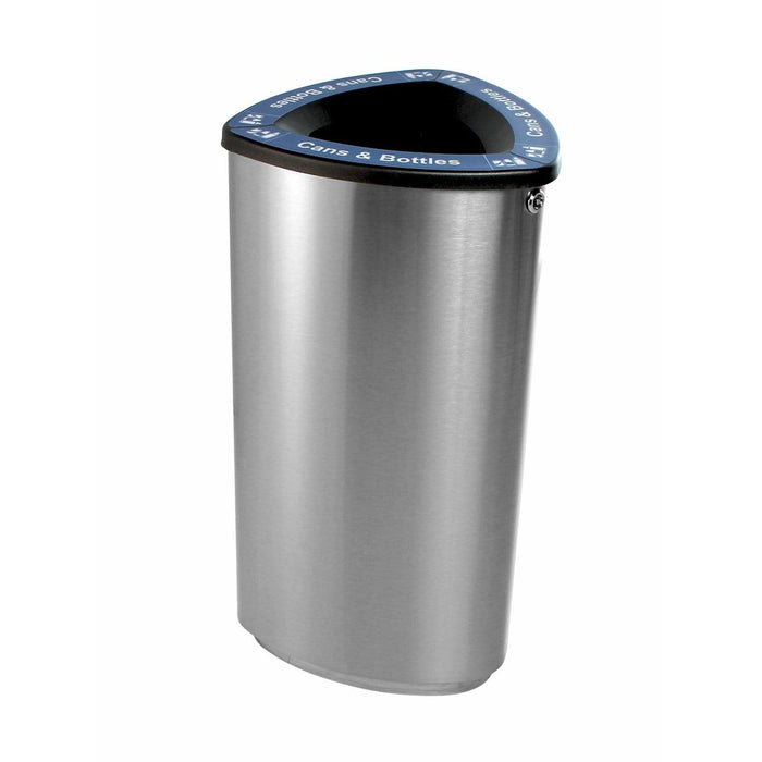 Busch Systems Boka 21 Gallon Single Stream Stainless Steel Recycling Receptacle - 101221 - Trash Cans Depot