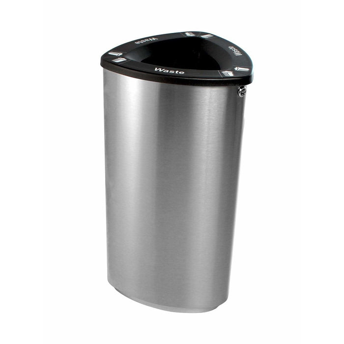 Busch Systems Boka 21 Gallon Single Stream Stainless Steel Trash Receptacle - 101223 - Trash Cans Depot