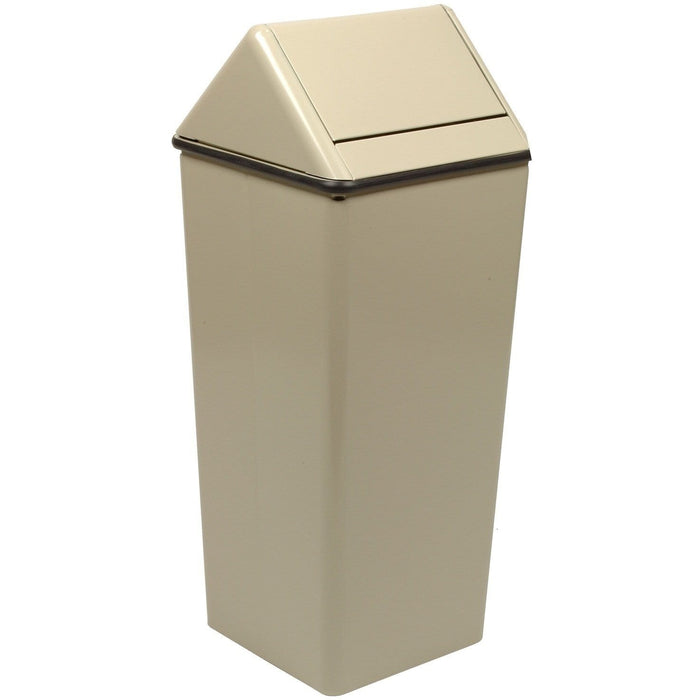 Witt Industries Waste Watcher Swing Top 21 Gallon Steel Trash Receptacle - 1411HTAL - Trash Cans Depot