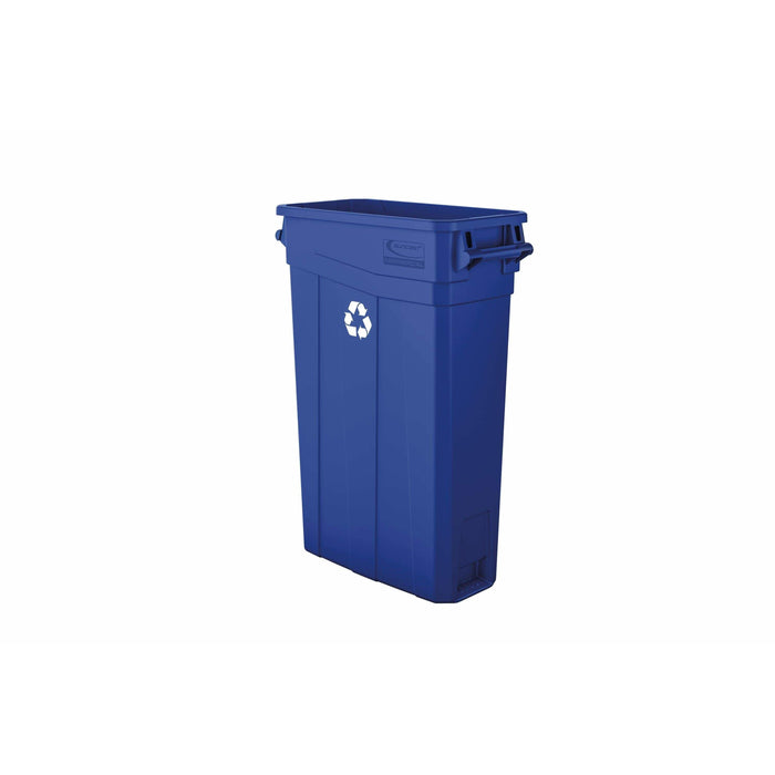 Suncast Commercial Slim 23 Gallon Resin Recycling Bin - TCNH2030BLR - Trash Cans Depot