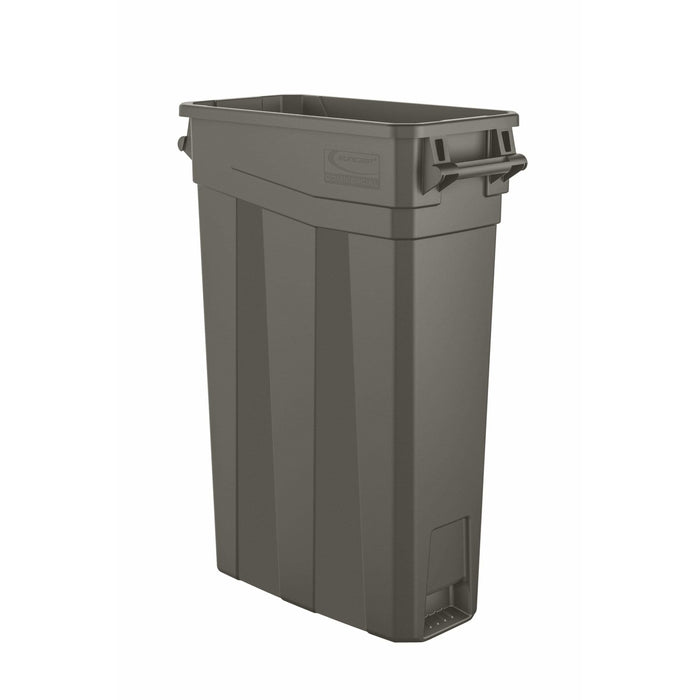 Suncast Commercial Slim 23 Gallon Resin Trash Can - TCNH2030 - Trash Cans Depot
