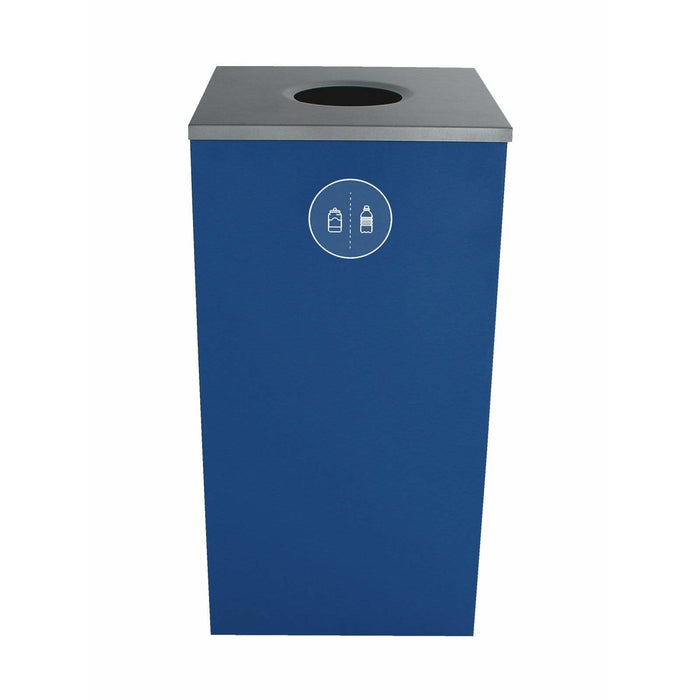Busch Systems Spectrum 24 Gallon Cube Single Stream Steel Recycling Receptacle - 101126 - Trash Cans Depot