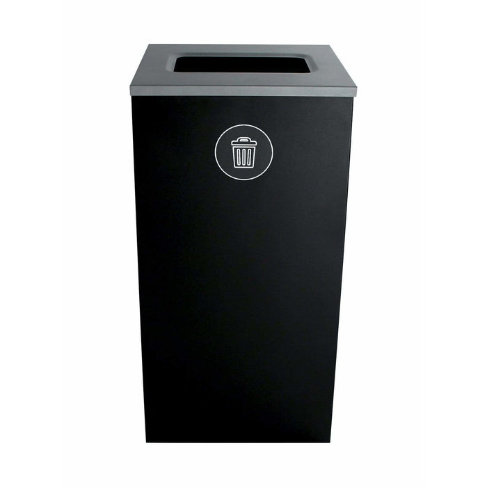 Busch Systems Spectrum 24 Gallon Cube Single Stream Steel Trash Receptacle - 101138 - Trash Cans Depot