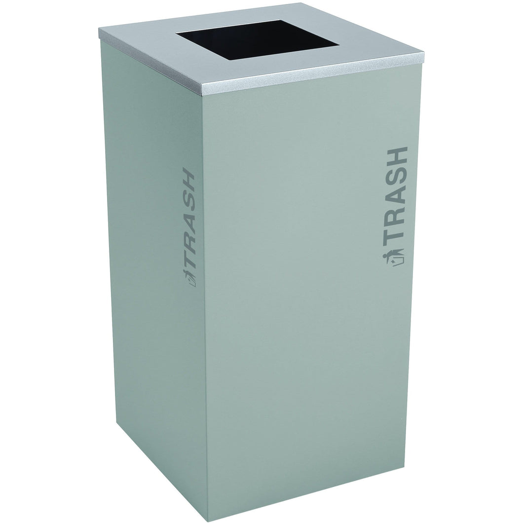 Ex-Cell Kaiser Black Tie Kaleidoscope XL Series 24 Gallon Steel Trash Receptacle - RC-KDSQ-T BT-HMG - Trash Cans Depot