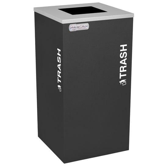 Ex-Cell Kaiser Kaleidoscope Collection 24 Gallon Steel Trash Receptacle - RC-KDSQ-T BLX - Trash Cans Depot