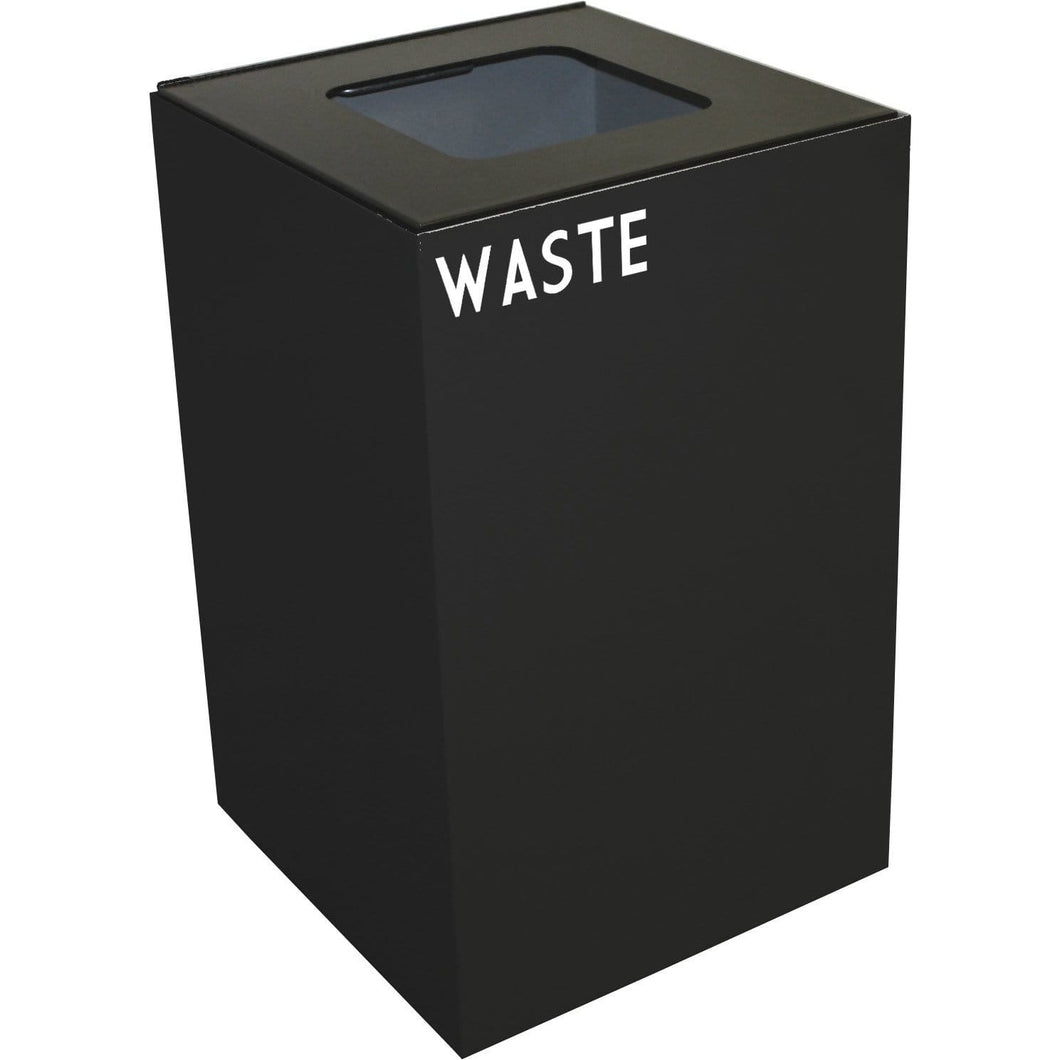 Witt Industries GeoCube Collection 24 Gallon Steel Trash Receptacle - 24GC03-CB - Trash Cans Depot