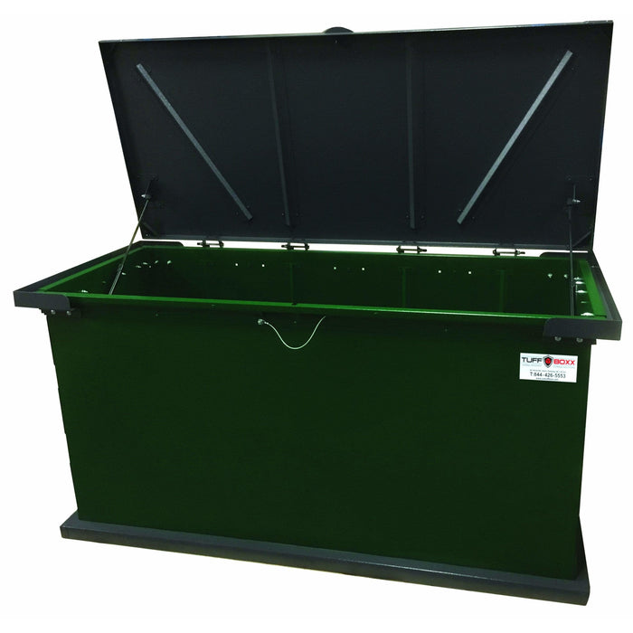 TuffBoxx Kodiak Animal Resistant 243 Gallon Steel Trash Receptacle - 453-003 - Trash Cans Depot