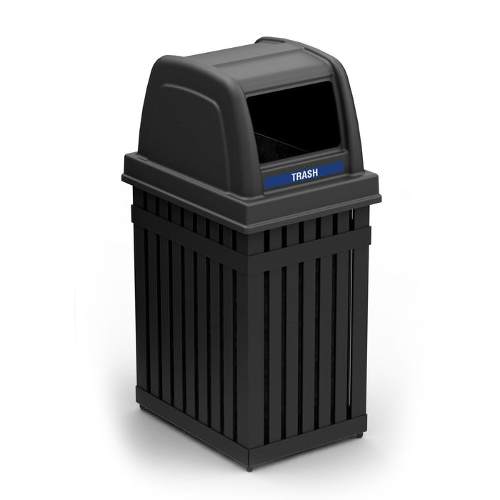 Commercial Zone ArchTec 25 Gallon Steel Parkview 1 Waste Container - 72740199 - Trash Cans Depot