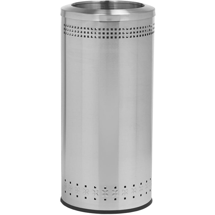 Commercial Zone Precision 25 Gallon Stainless Steel Open-Top Imprinted Waste Container - 781829 - Trash Cans Depot