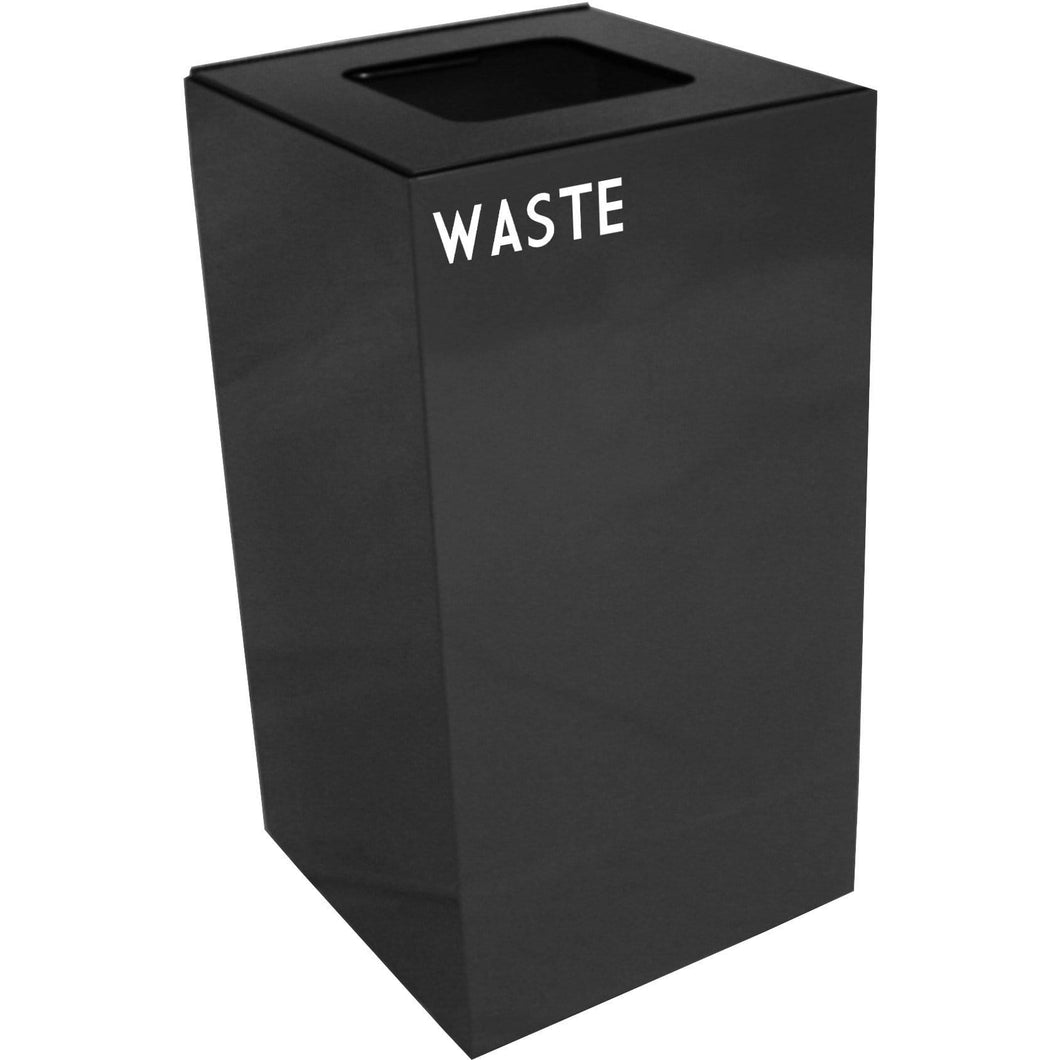 Witt Industries GeoCube Collection 28 Gallon Steel Trash Receptacle - 28GC03-CB - Trash Cans Depot
