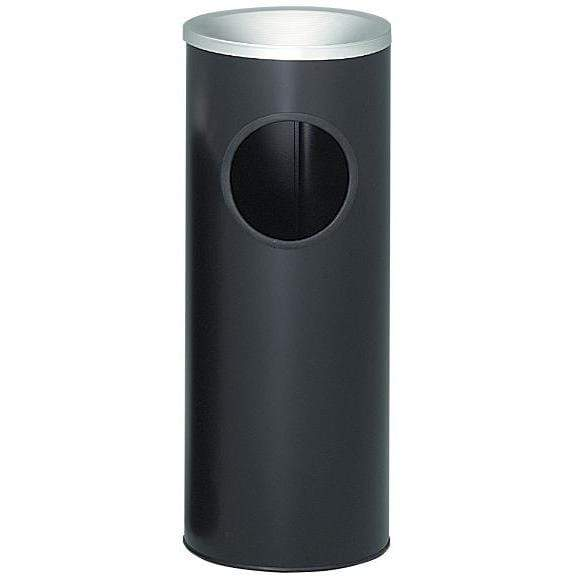 Witt Industries Ash'n Trash 3 Gallon Pre-Galvanized Steel Trash Receptacle - 3000BK - Trash Cans Depot
