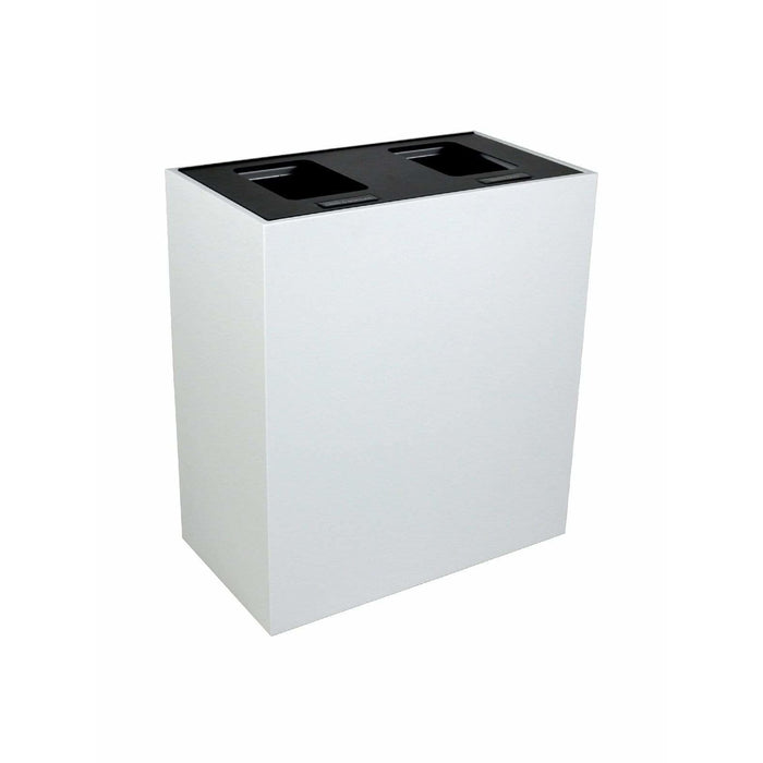 Busch Systems Summit 30 Gallon Double Stream Steel Recycling Receptacle - 101506 - Trash Cans Depot