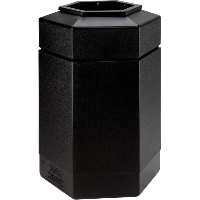 Commercial Zone PolyTec 30 Gallon Plastic Hexagon Waste Container - 737101 - Trash Cans Depot