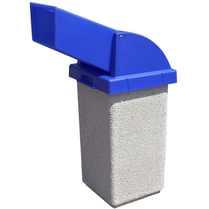 Wausau Tile Drive Up Chute Lid 30 Gallon Concrete Trash Receptacle - TF1021 - Trash Cans Depot