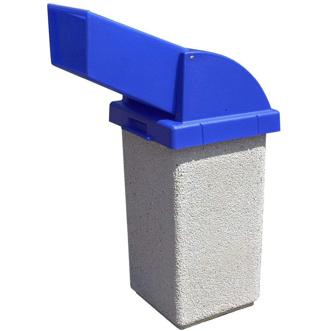 Wausau Made Drive Up Chute Lid 30 Gallon Concrete Trash Receptacle - TF1021 - Trash Cans Depot