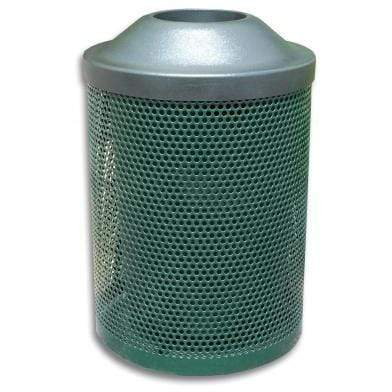 Wausau Made Pitch In Top 30 Gallon Metal Trash Receptacle - MF3008 - Trash Cans Depot