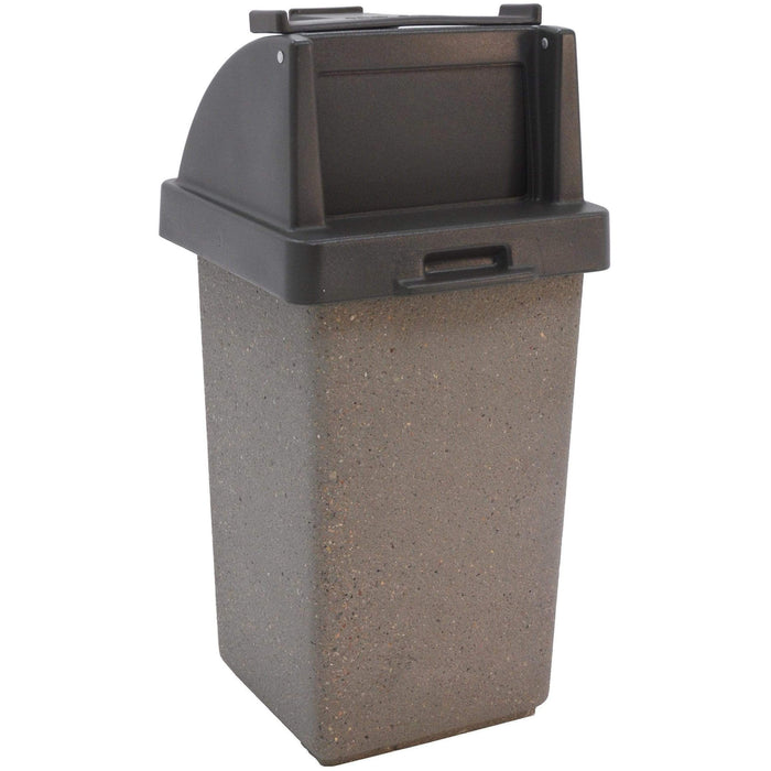 Wausau Made Tray Caddy Top 30 Gallon Concrete Trash Receptacle - TF1020 - Trash Cans Depot