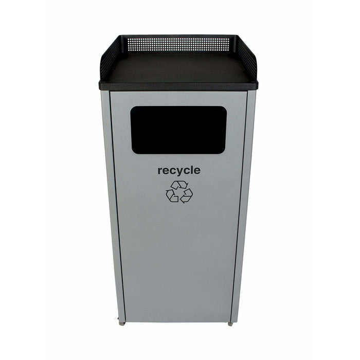 Busch Systems Courtside 32 Gallon Single Stream Steel Recycling Receptacle - 100922 - Trash Cans Depot