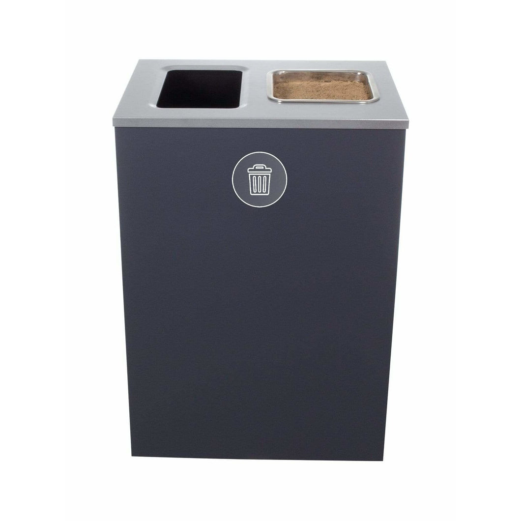 Busch Systems Spectrum 32 Gallon XL Cube Single Stream Steel Trash & Ashtray Receptacle - 104013 - Trash Cans Depot