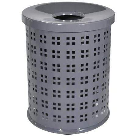 Paris Site Furnishings T-Series 32 Gallon Steel Trash Receptacle - TS3 - Trash Cans Depot