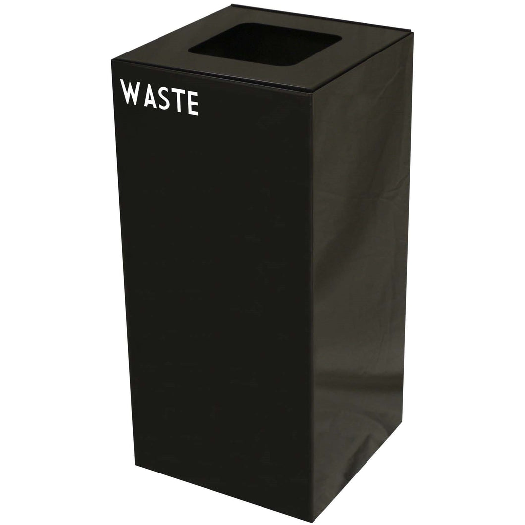Witt Industries GeoCube Collection 32 Gallon Steel Trash Receptacle - 32GC03-CB - Trash Cans Depot