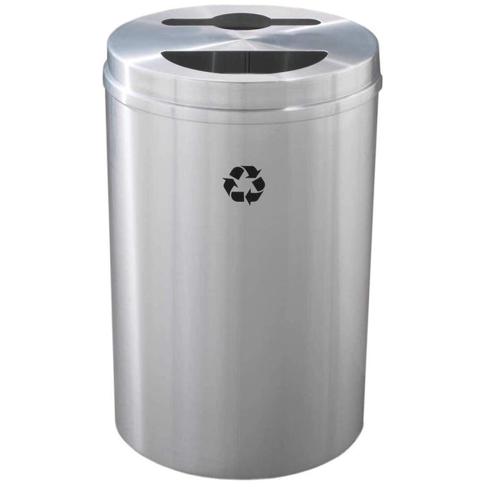 Glaro Dual Purpose Key Hole/Half Round 33 Gallon Recycling Bin - MT-2032SA-SA - Trash Cans Depot