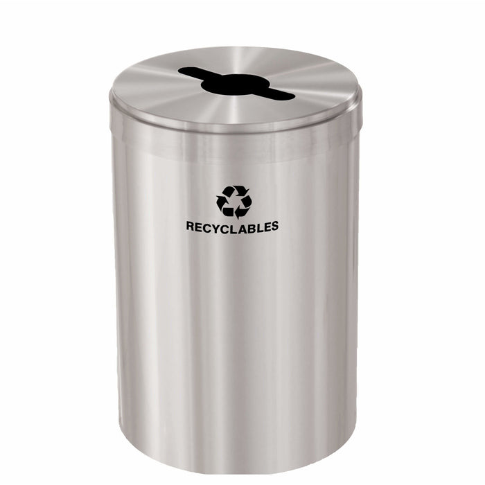 Glaro Single Purpose Key Hole 33 Gallon Recycling Bin - M-2032SA-SA - Trash Cans Depot