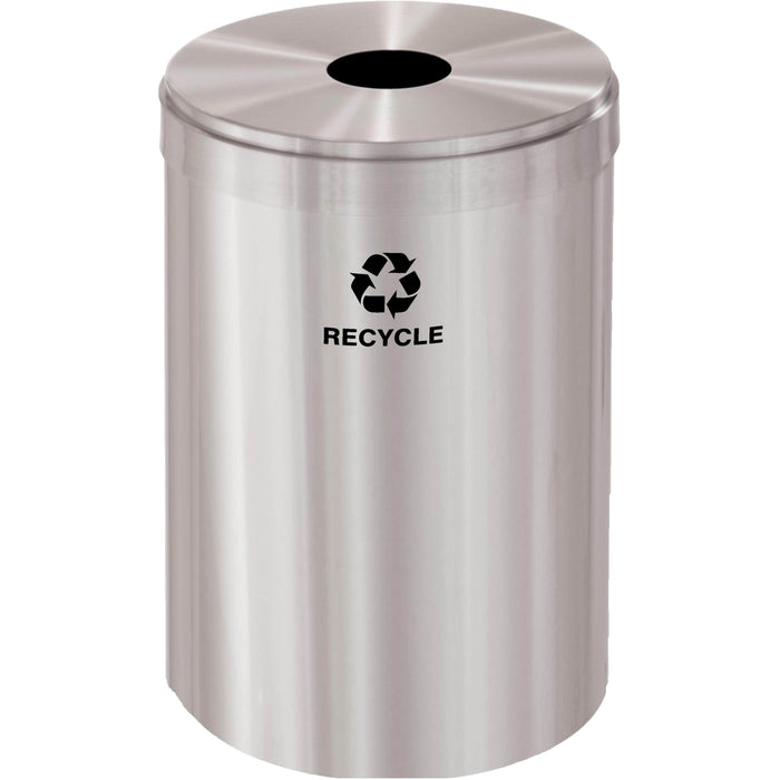 Glaro Single Purpose Round Hole 33 Gallon Recycling Bin - B-2032SA-SA - Trash Cans Depot