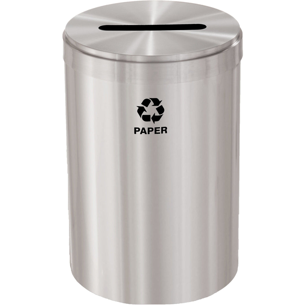 Glaro Single Purpose Slot 33 Gallon Recycling Bin - P-2032SA-SA - Trash Cans Depot