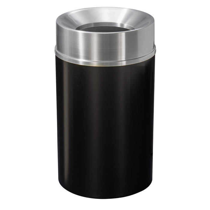 Glaro Mount Everest Funnel 33 Gallon Trash Can - F2035BK-SA - Trash Cans Depot