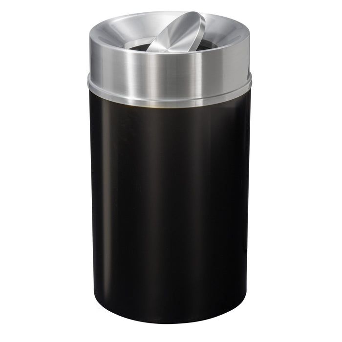 Glaro Mount Everest Tip Action 33 Gallon Trash Can - TA2035BK-SA - Trash Cans Depot