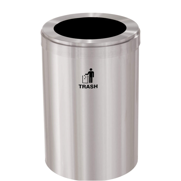 Glaro Single Purpose Round Hole 33 Gallon Trash Can - W-2032SA-SA - Trash Cans Depot