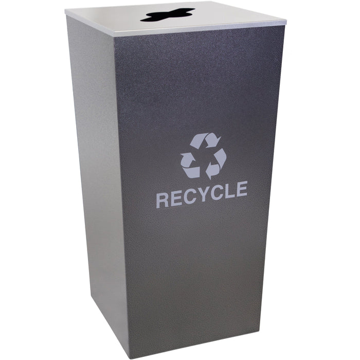 34 Gallon Recycling Bin - Ex-Cell Kaiser Metro Collection 34 Gallon Steel Recycling Receptacle - RC-MTR-34 R HCCL