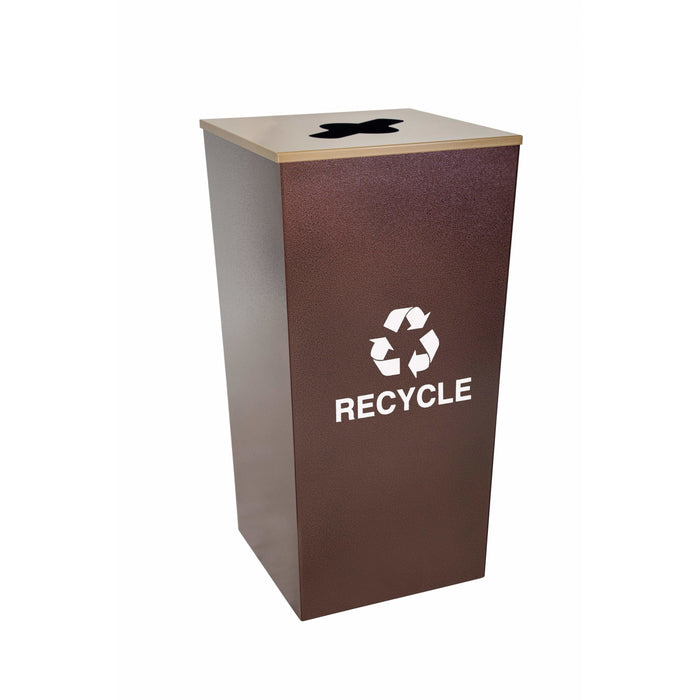 Ex-Cell Kaiser Metro Collection 34 Gallon Steel Recycling Receptacle - RC-MTR-34 R HCPR - Trash Cans Depot