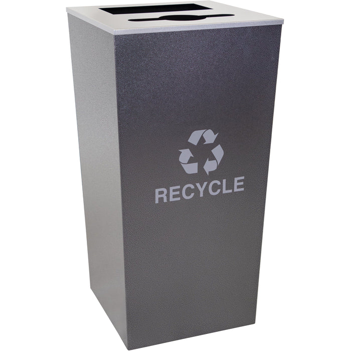 34 Gallon Recycling Bin - Ex-Cell Kaiser Metro Collection 34 Gallon Two Stream Steel Recycling Receptacle - RC-MTR-34 COMBO HCCL