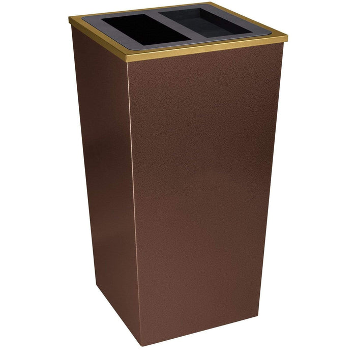 Ex-Cell Kaiser Metro Collection 34 Gallon Steel Trash Receptacle - RC-MTR-34 A/T HCPR - Trash Cans Depot