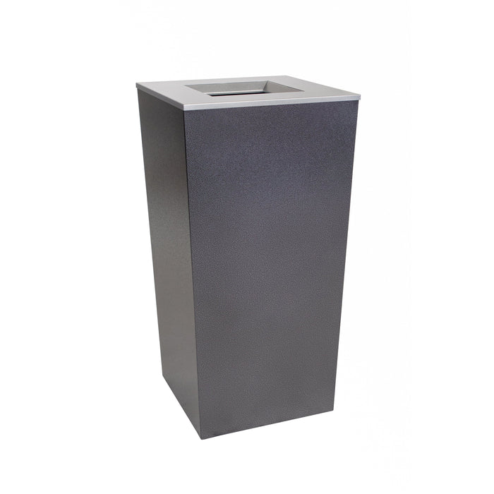 34 Gallon Trash Can - Ex-Cell Kaiser Metro Collection 34 Gallon Steel Trash Receptacle - RC-MTR-34 TR HCCL