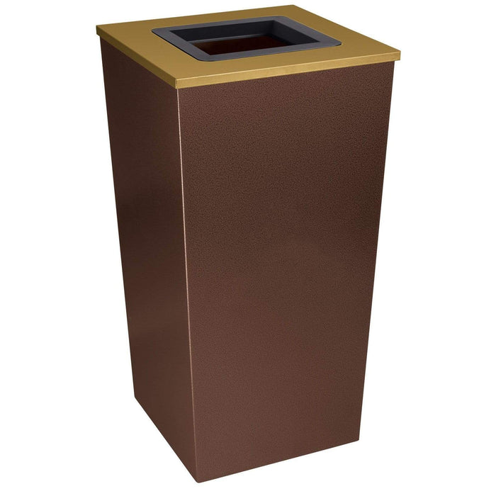 Ex-Cell Kaiser Metro Collection 34 Gallon Steel Trash Receptacle - RC-MTR-34 TR HCPR - Trash Cans Depot