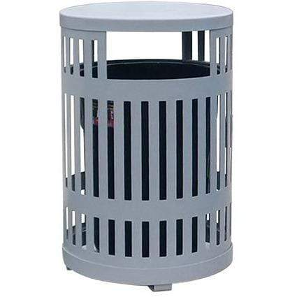 Paris Site Furnishings Bridgeline 34 Gallon Steel Trash Receptacle - BLLR32-D-SP - Trash Cans Depot
