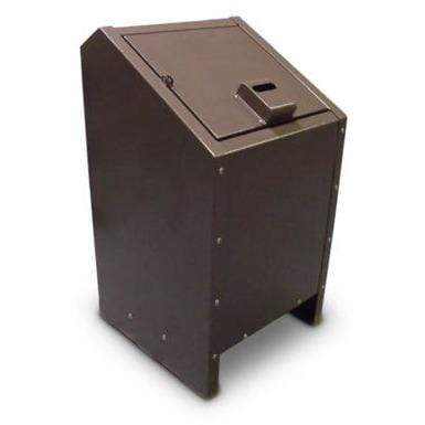 Paris Site Furnishings Wildlife Resistant Single 34 Gallon Steel Trash Receptacle - BPLR1 - Trash Cans Depot