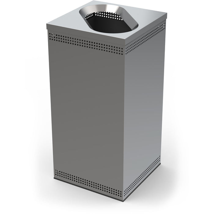 Commercial Zone Precision 35 Gallon Stainless Steel Square Waste Container - 785329 - Trash Cans Depot