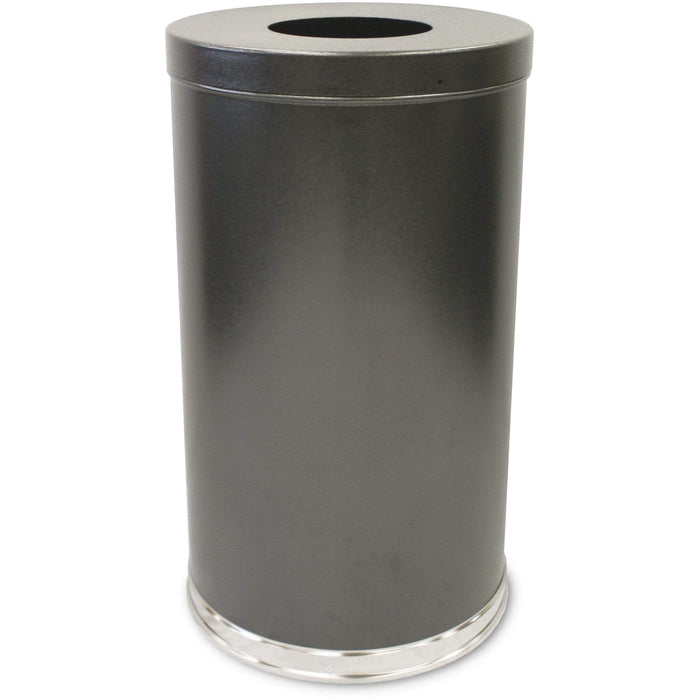 Witt Industries Flat Top 35 Gallon Granite Trash Receptacle - 35FTSVN - Trash Cans Depot