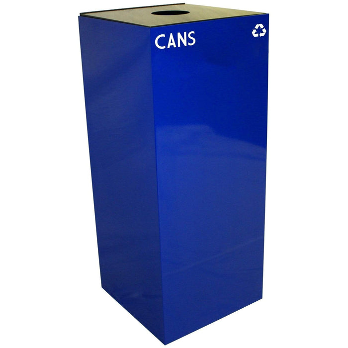 Witt Industries GeoCube Collection 36 Gallon Steel Recycling Receptacle - 36GC01-BL - Trash Cans Depot