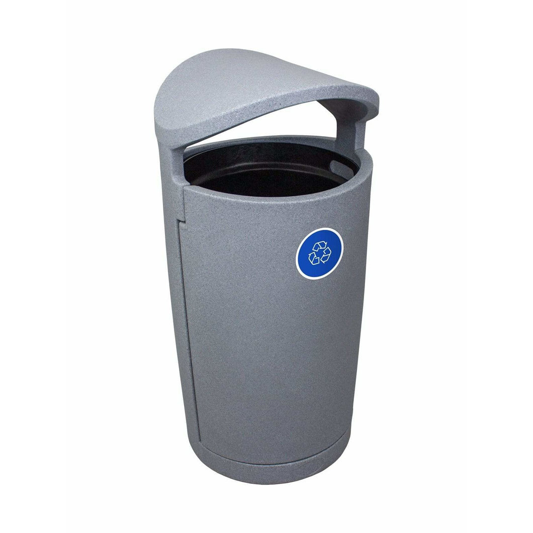 Busch Systems Euro 36 Gallon Single Stream Plastic Recycling Receptacle - 104422 - Trash Cans Depot