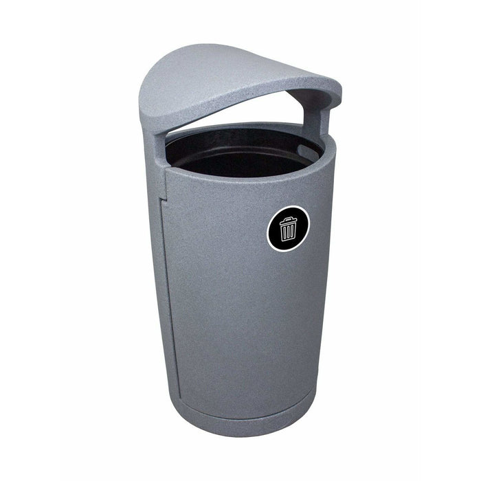 Busch Systems Euro 36 Gallon Single Stream Plastic Trash Receptacle - 104421 - Trash Cans Depot